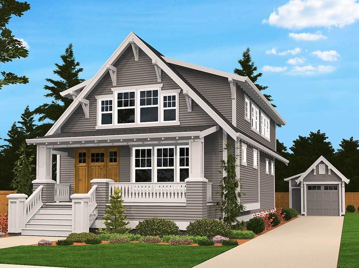 Front rendering of the two-story 4-bedroom bungalow home.