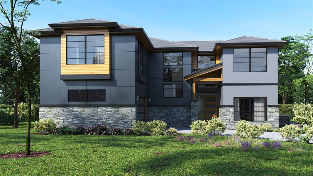 Two-Story 4-Bedroom Modern Style Home