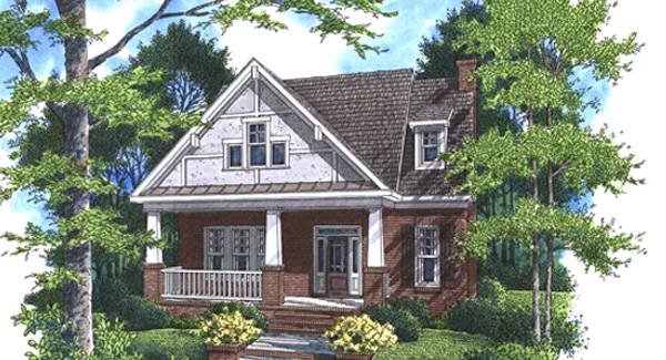 Perspective sketch of the two-story 4-bedroom Stratton home.