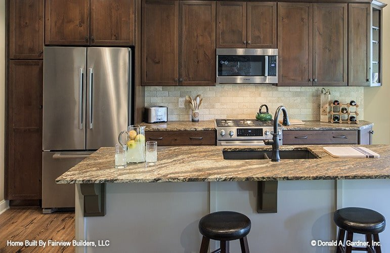 One last look at the kitchen boasting its top of the line appliances.