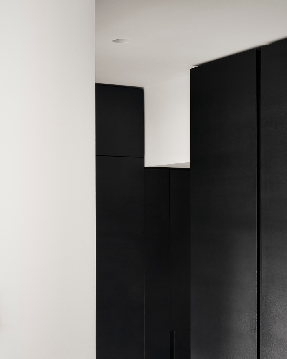 This is an area of the house depicting the artistic design of the house's black and white theme.