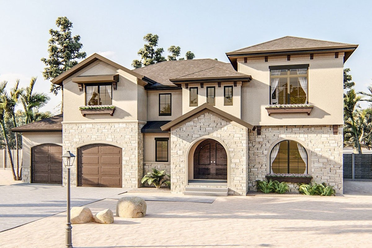 4-Bedroom Two-Story Adobe Home