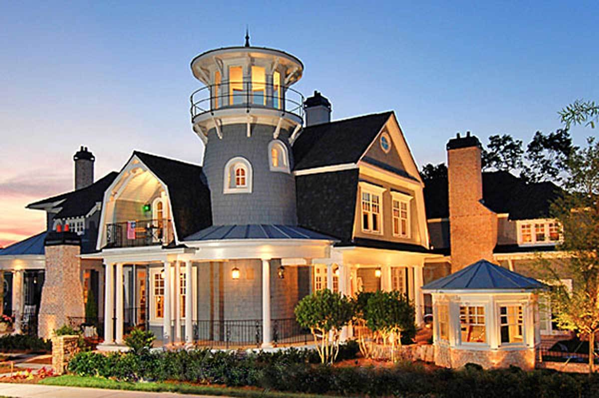6-Bedroom Two-Story Shingle Style Home with Lighthouse Tower