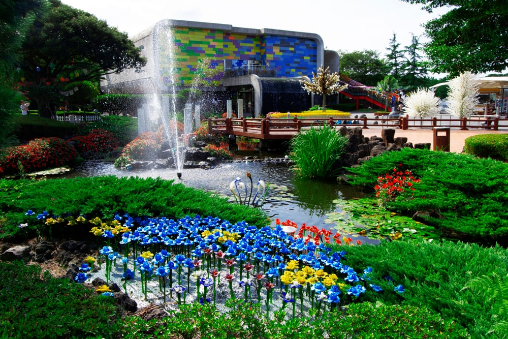 A view of the Jeju Island Glass Castle Theme Park and Museum.