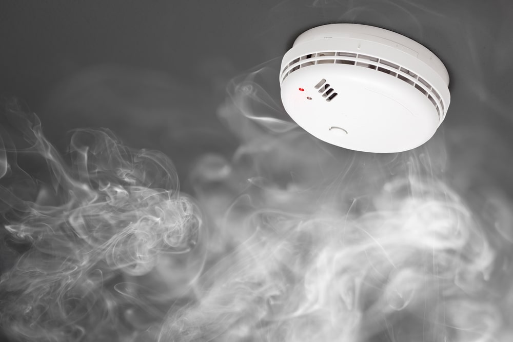 A look at an installed carbon monoxide detector.