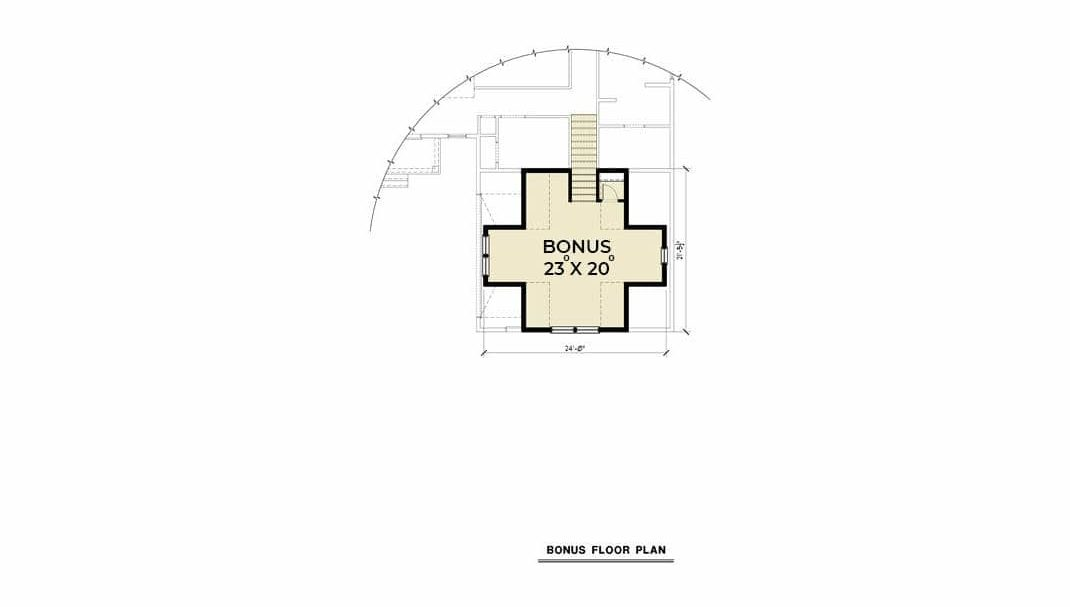 Bonus floor plan with a spare room that has a walk-in closet.