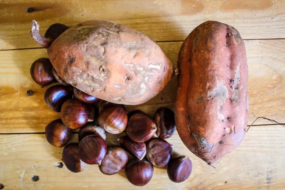 Brown horse sweet potatoes