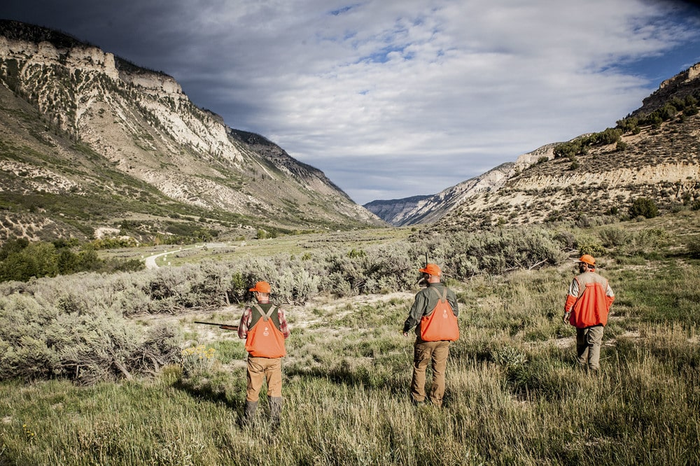 This is a look at a group of friends hunting within the 15,000-acre property. Image courtesy of Toptenrealestatedeals.com.