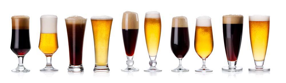 Dark Lager in wine glasses.
