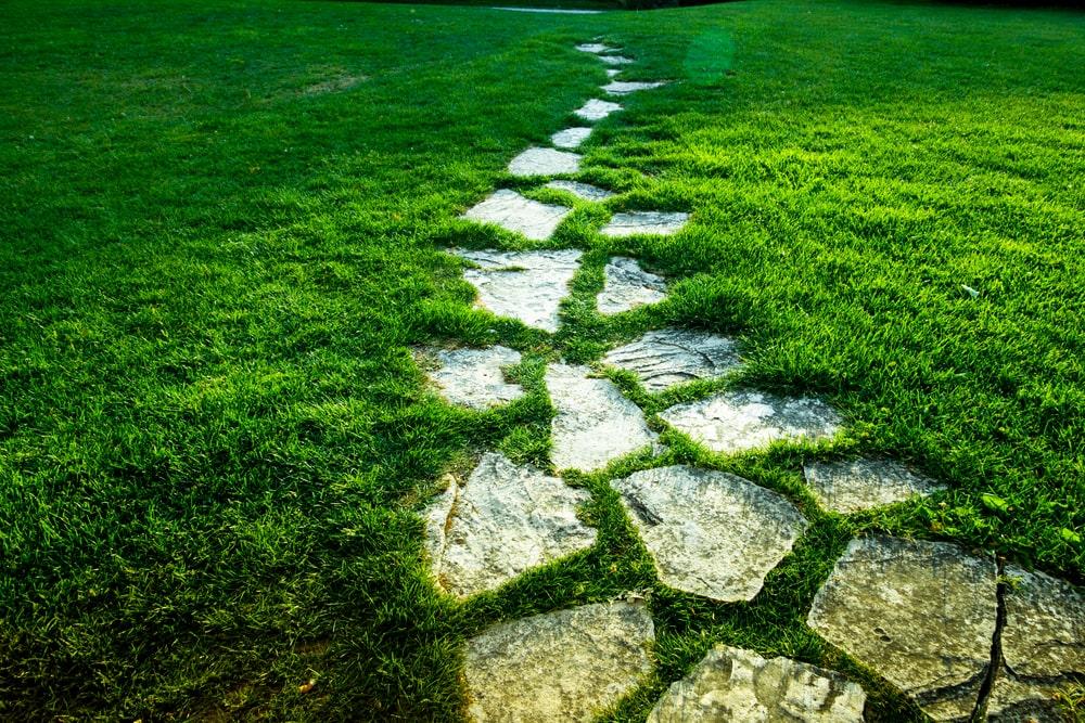 A look at mosaic stone walkways.