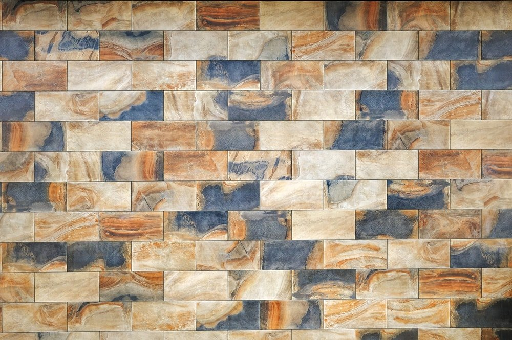 Ceramic granite tiles pattern with a relief structure.