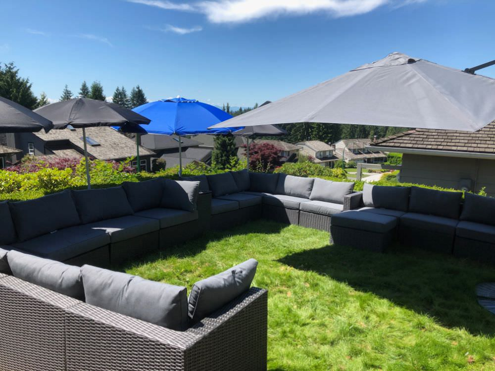 Example Of Patio Furniture On Grass Aka Grass Patio Before After Pics Home Stratosphere