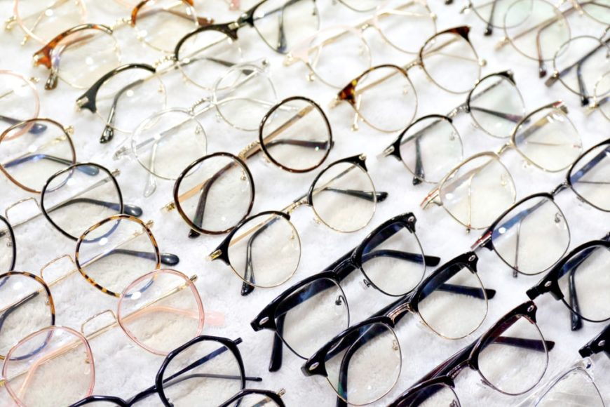 A look at various reading glasses on display.