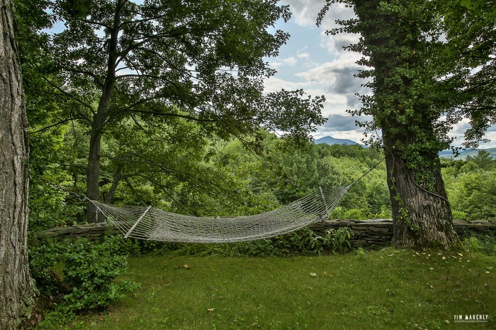 This part of the lawn is fitted with a comfortable hammock in between two mature trees and under the shade of the canopy of trees. Image courtesy of Toptenrealestatedeals.com.