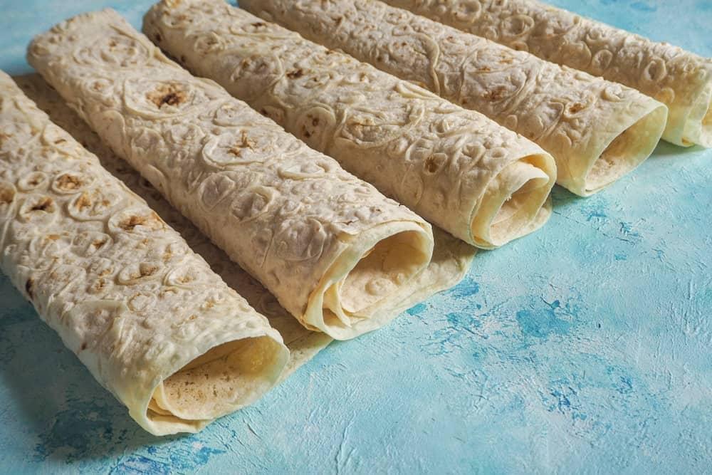 Rolls of Lavash bread.