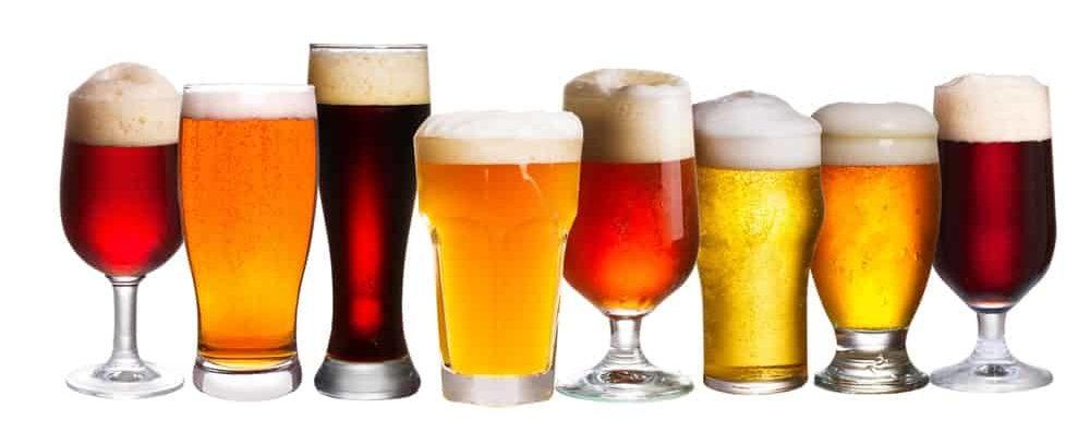 Lots of mild ale in various glasses.