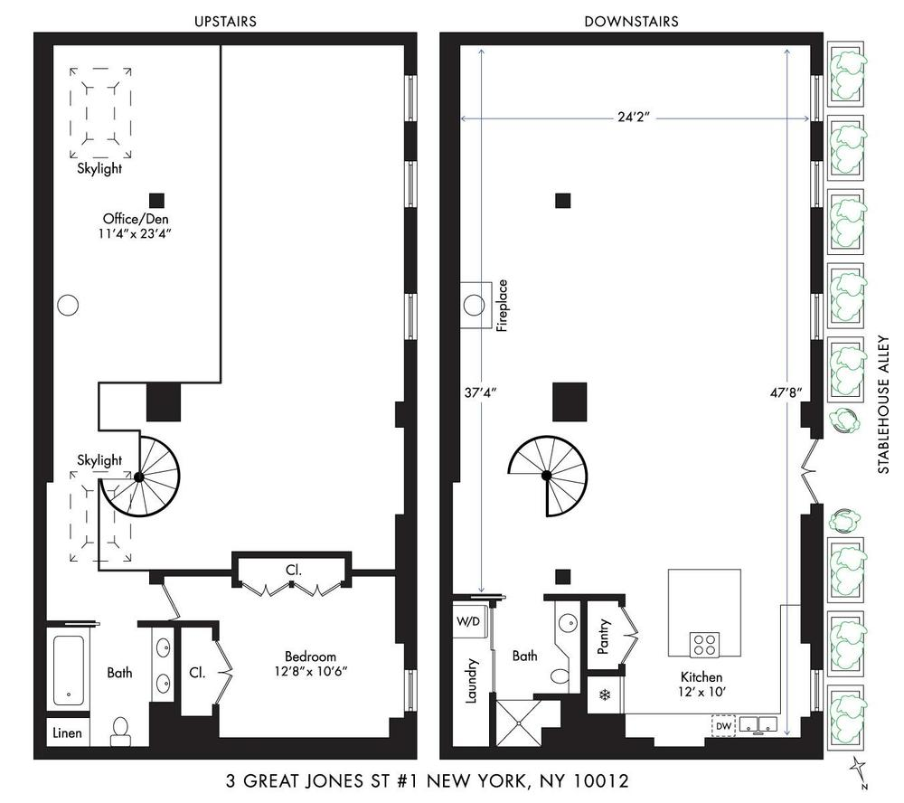 This is the floor plan of the house showing the various sections of the house on its first and second level. Image courtesy of Toptenrealestatedeals.com.