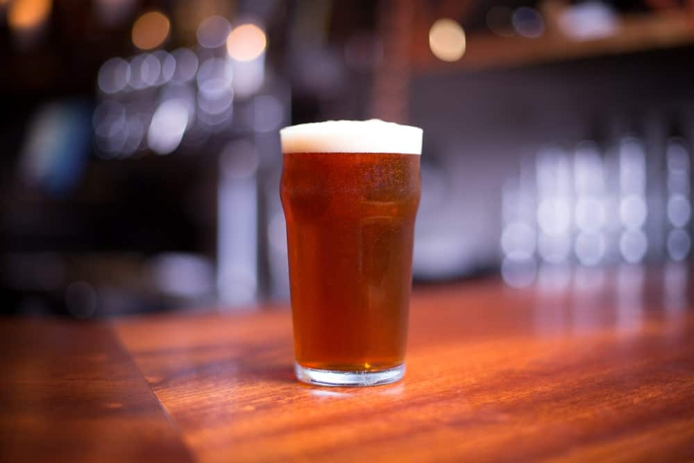 Concentrated pale ale in a glass