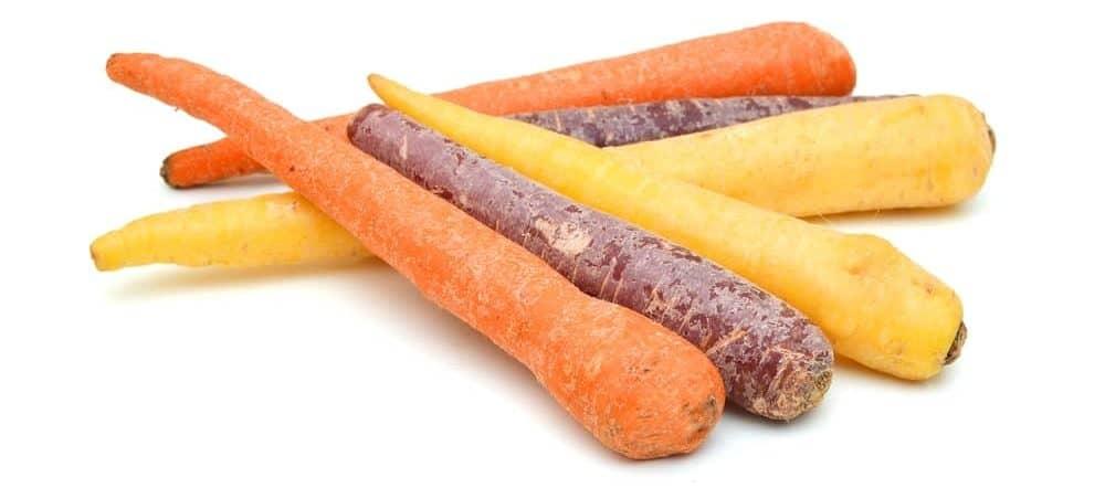 Multicolored rainbow carrots