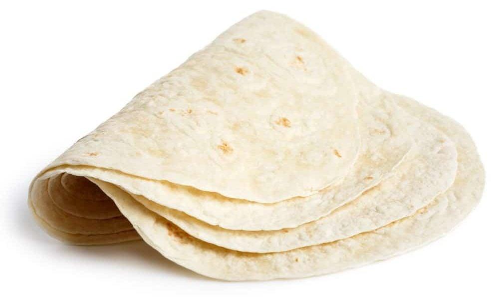 Folded tortillas