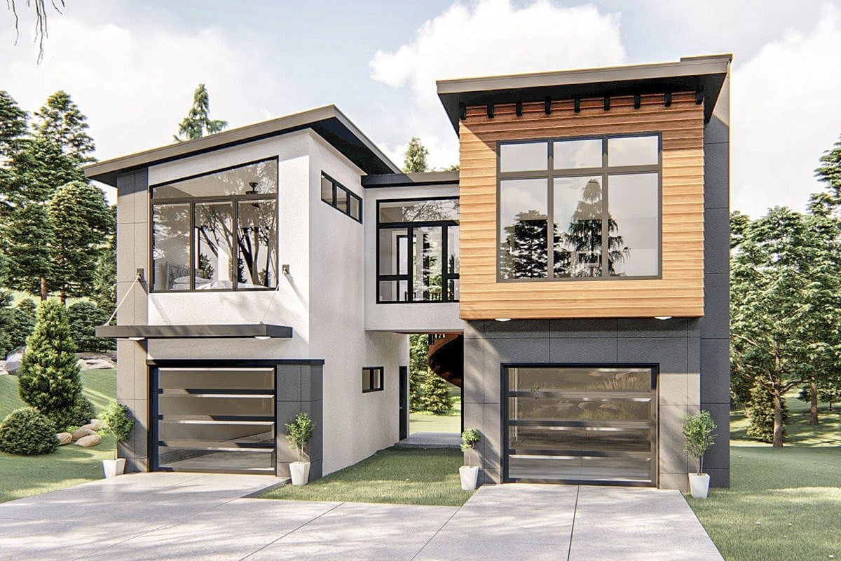Two-Story 1-Bedroom Contemporary Carriage Home