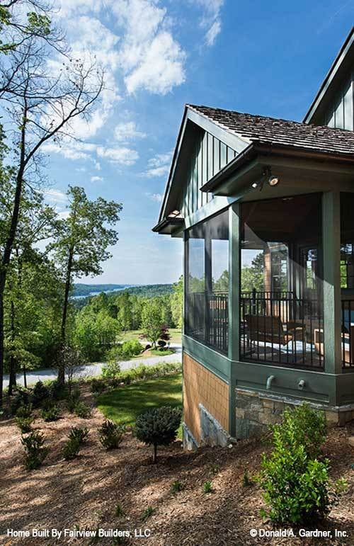 A magnificent expansive view can be enjoyed from the screened porch.