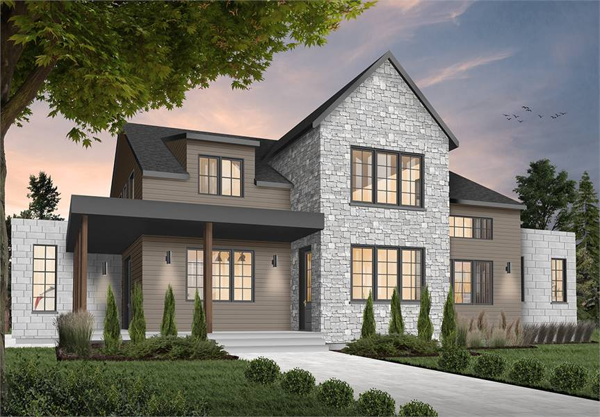 Two-Story 4-Bedroom Scandinavian Style New Cotton Home