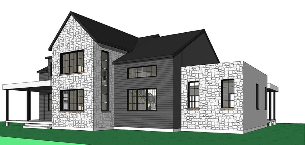 Front rendering of the 4-Bedroom Scandinavian style New Cotton home.