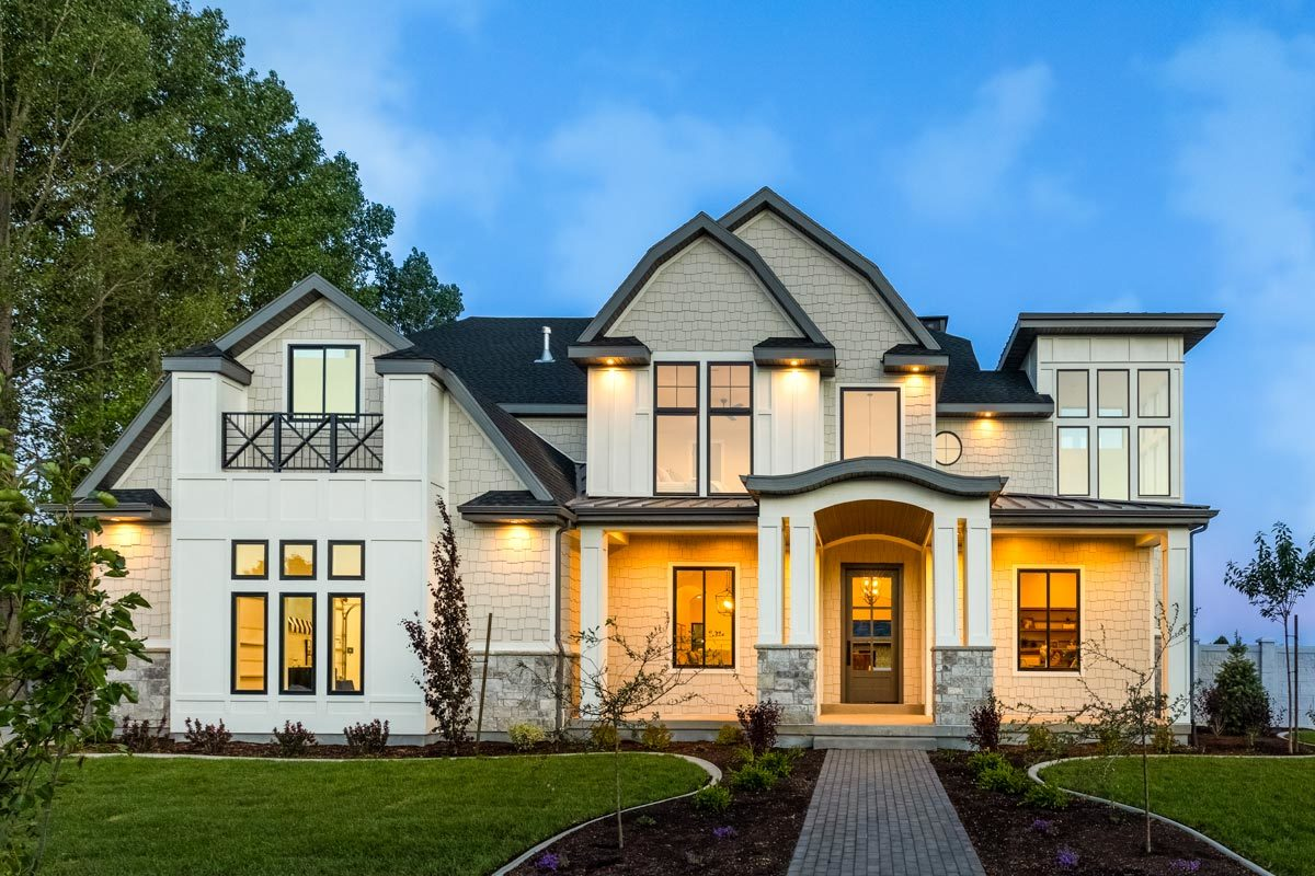 Two-Story 7-Bedroom Exclusive Shingle Home with Optional Lower Level