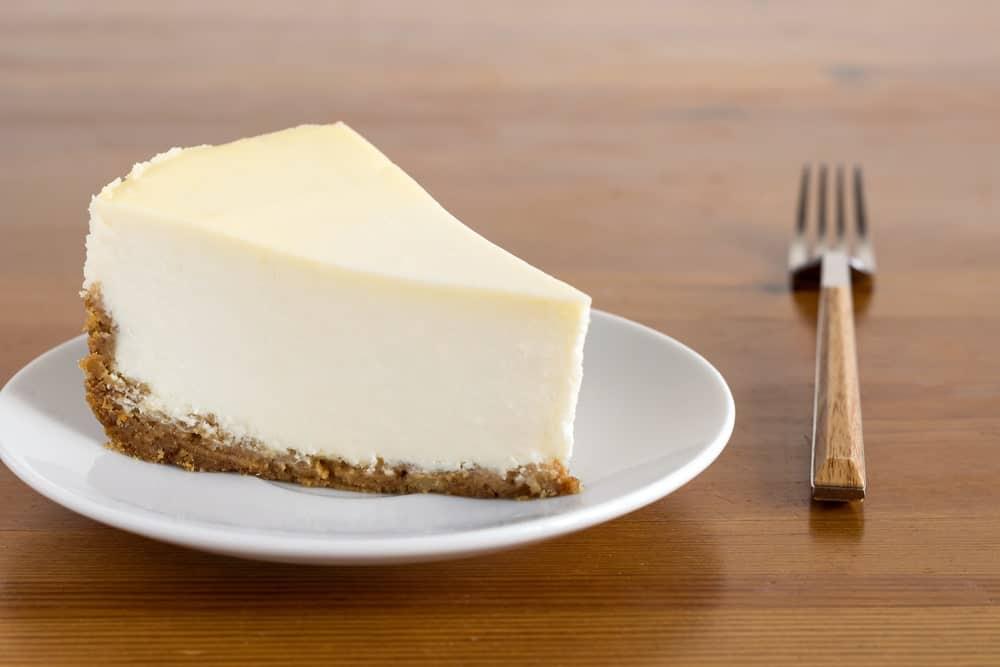 A slice of New York Cheesecake.