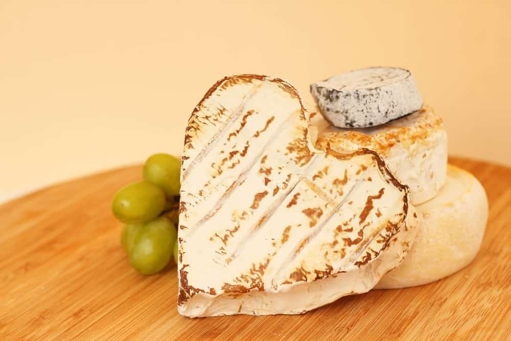 A look at a heart-shaped Coeur de Chevre Cheese.