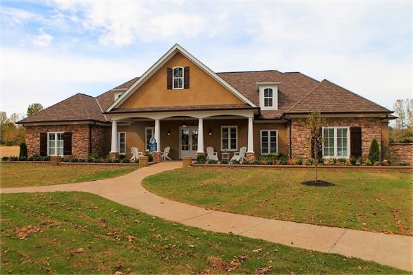 3-Bedroom Single-Story Stephens Traditional Country Style Home with Wrap Around Rear Porch