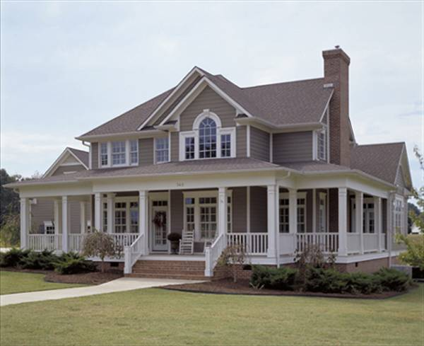 3-Bedroom Two-Story Country Style The Liberty Hill Home for Corner Lot