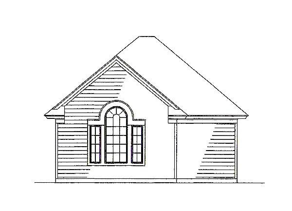 Detached garage sketch of the 3-bedroom two-story country style The Liberty Hill home.