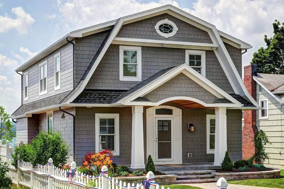 4-Bedroom Two-Story Country Cottage Home with Gambrel Roof