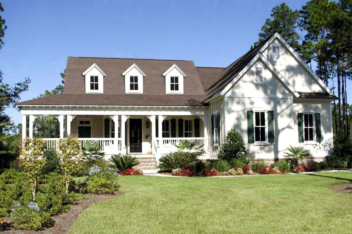 4-Bedroom Two-Story Country Home with Wrap Around Porch and Bonus Room