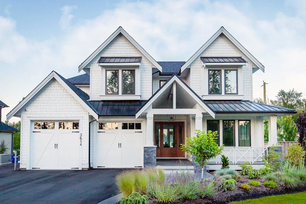 4-Bedroom Two-Story Exclusive Modern Craftsman for a Narrow Lot