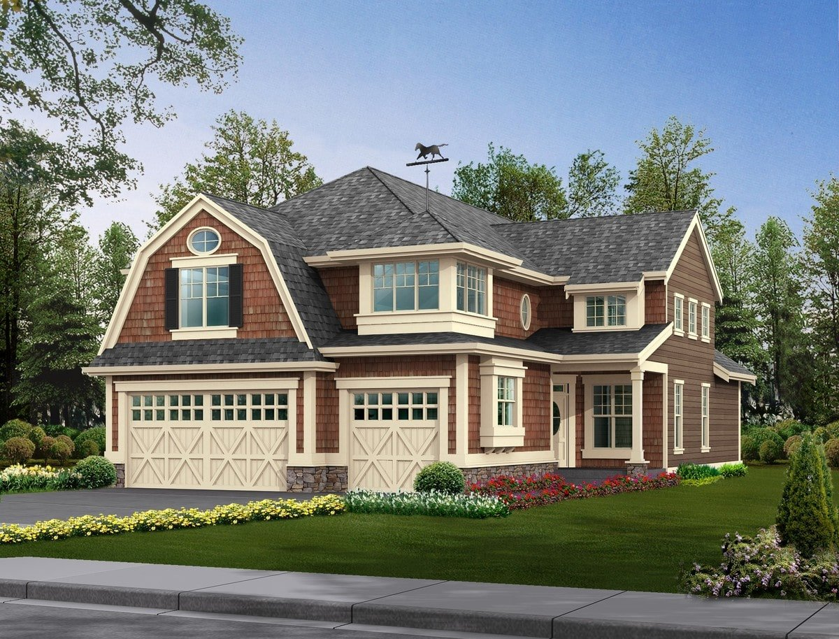 Front rendering of the 4-bedroom two-story Northwest home.