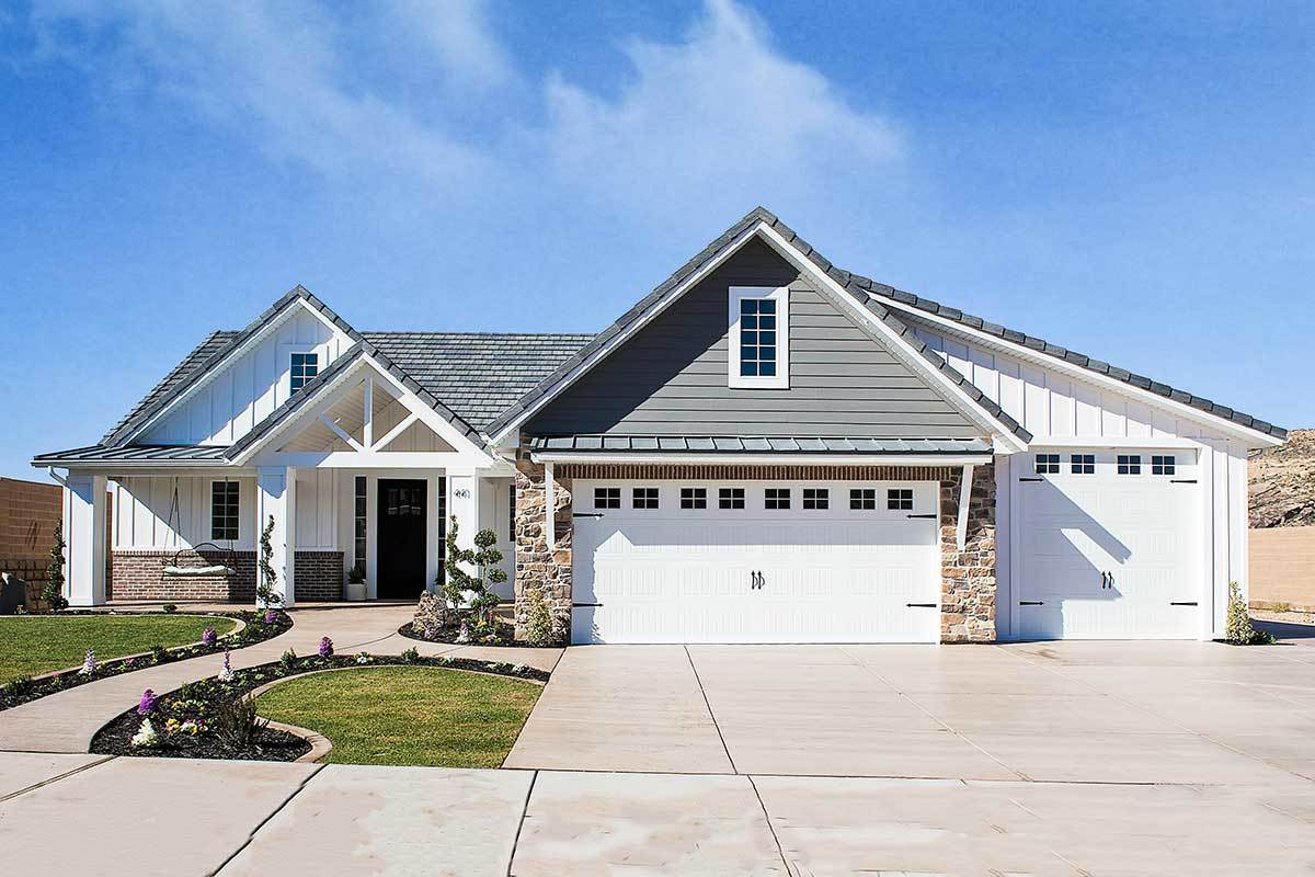 5-Bedroom Single-Story New American Home with Bonus Room above Garage