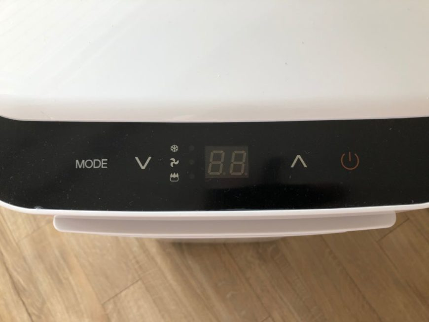 The simple interface of the Arctic King air conditioner