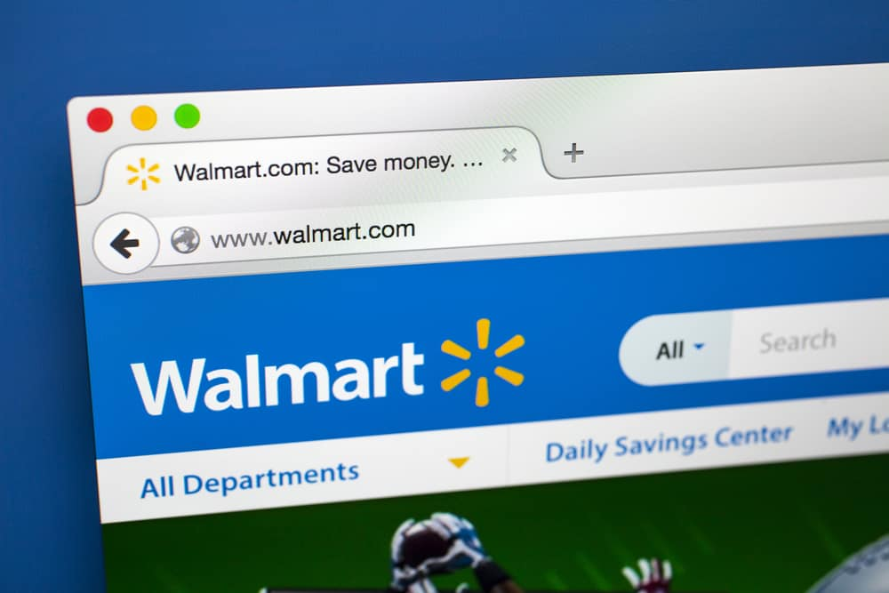 Homepage of the official Walmart website.