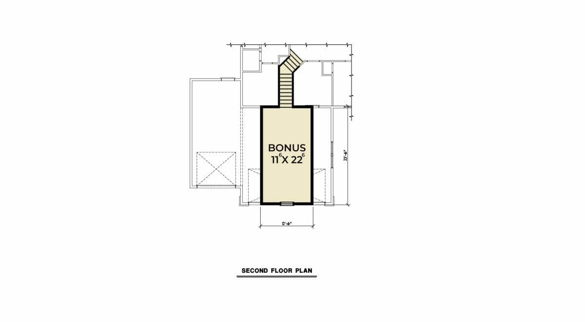 Bonus floor plan with a 242 square feet of space.