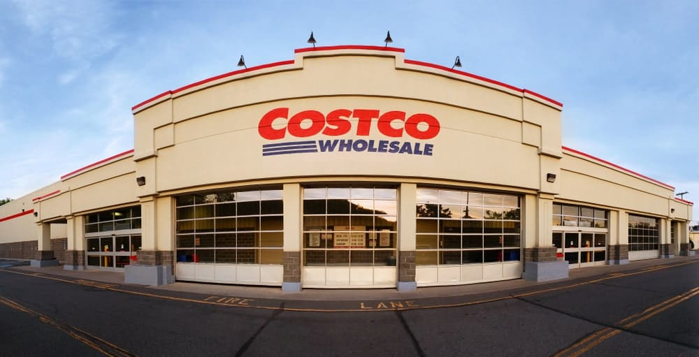 Panoramic view of Costco Wholesale store.