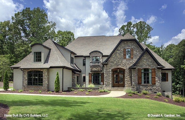 French country style house exterior