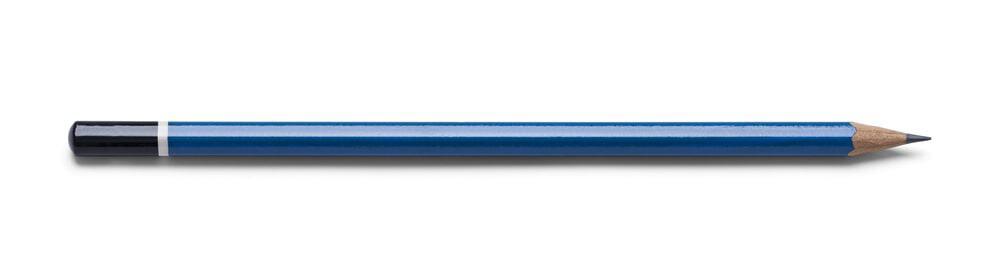 A blue HB pencil