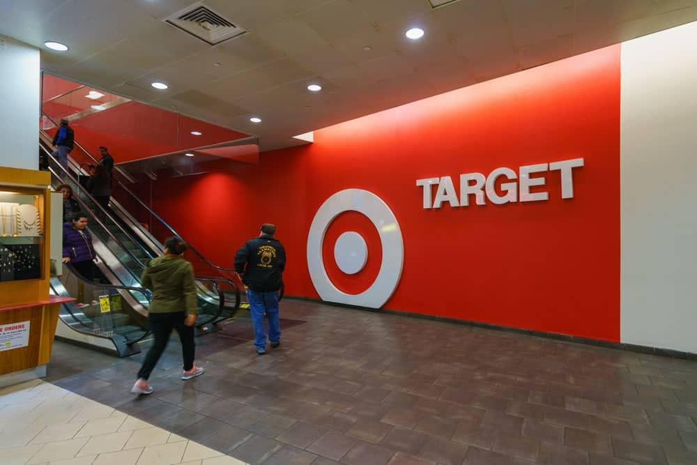 Interior of Target retail store.
