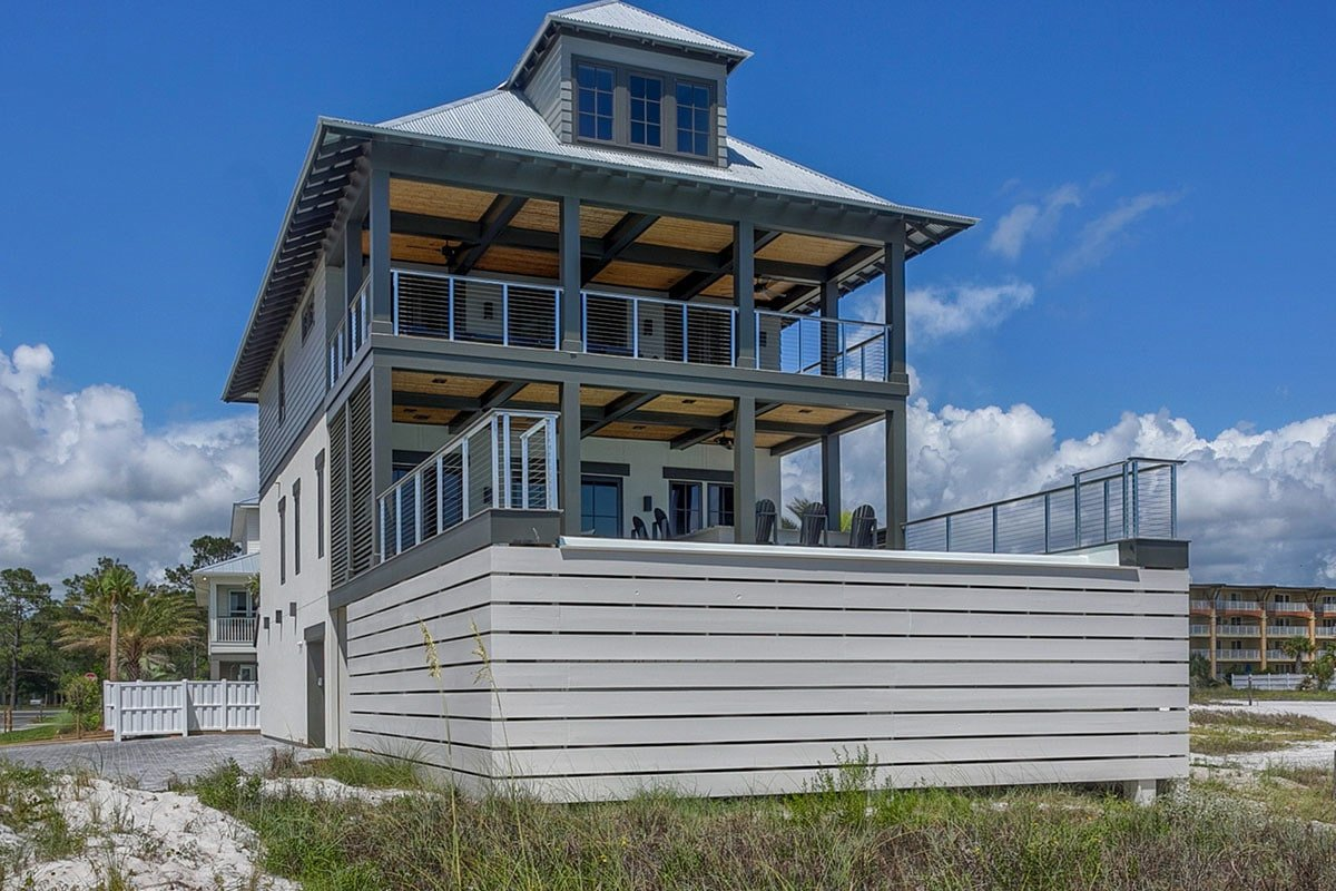 Three-Story 4-Bedroom Beach Home with Elevator and Optional Bunk Room