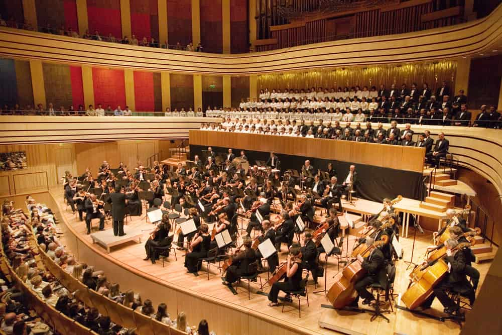 Symphony in concert hall.