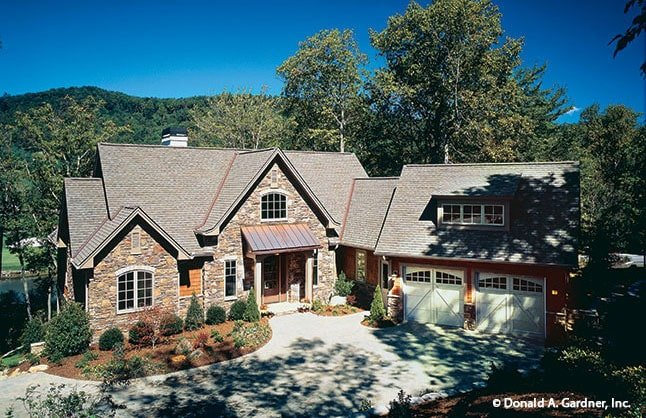 Two-Story 3-Bedroom The Dogwood Ridge Rustic Home with Elevator