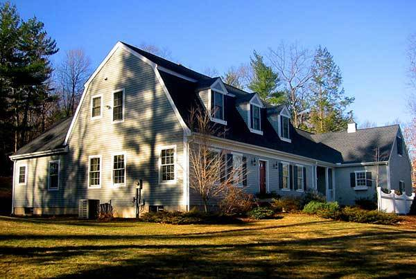 Two-Story 4-Bedroom Cape Cod Home with Gambrel Roof